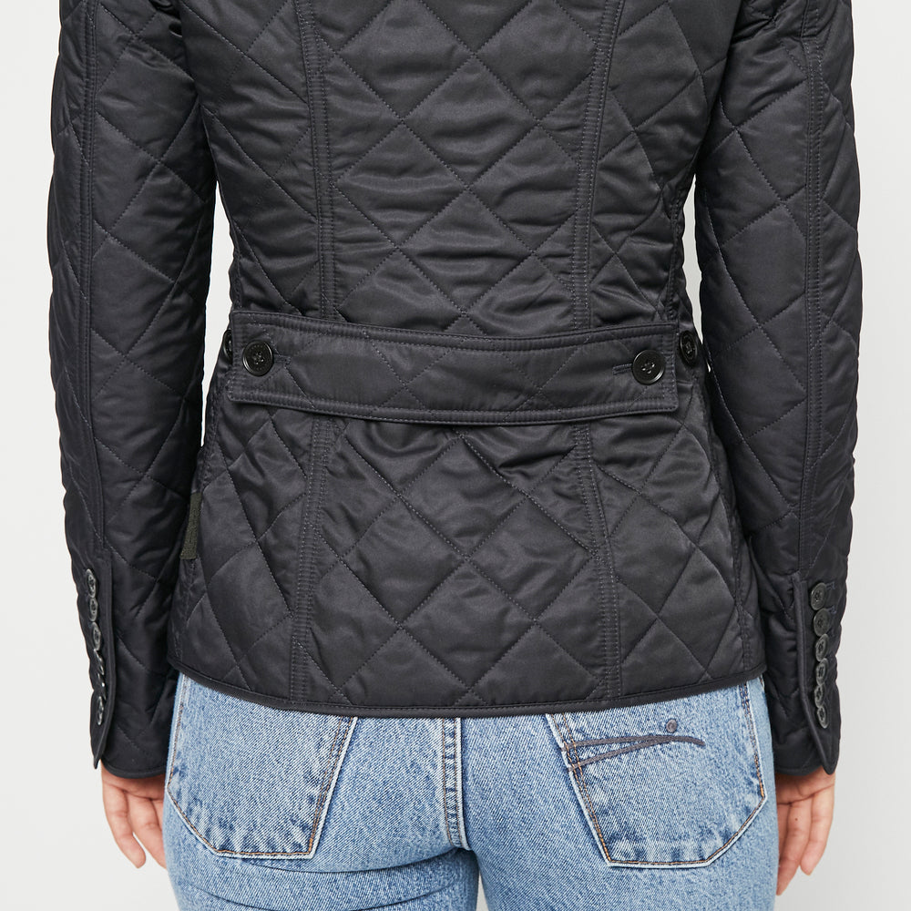 BURBERRY Quilted Puffer Jacket Navy Blue Sz XS