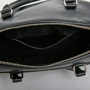 SAINT LAURENT Small Black Duffle Studded Bag