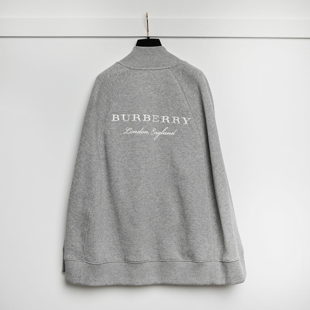 BURBERRY Grey Cotton Cape Sz S