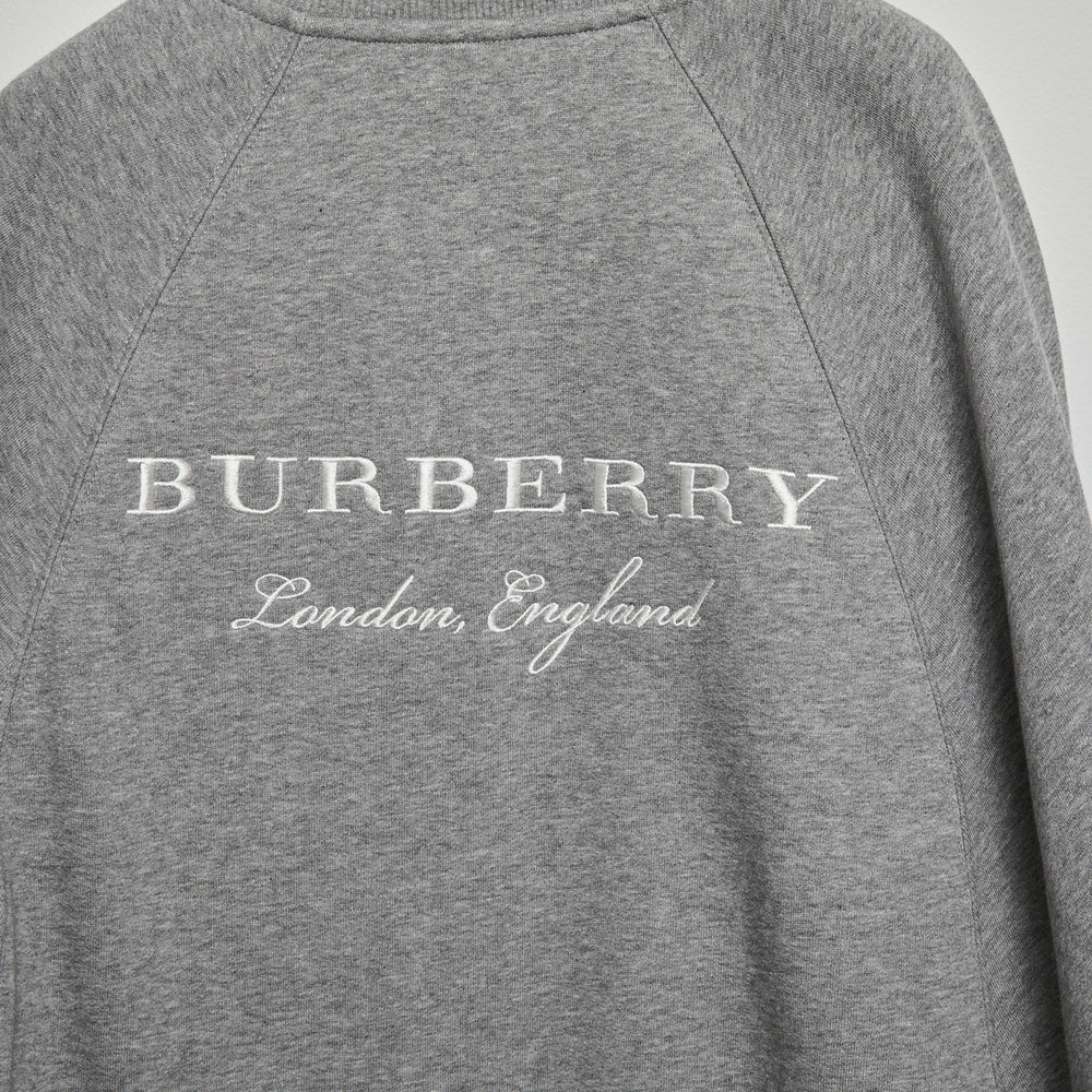 Load image into Gallery viewer, BURBERRY Grey Cotton Cape Sz S