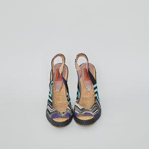 Load image into Gallery viewer, MISSONI Slingback Espadrille Wedge sz38