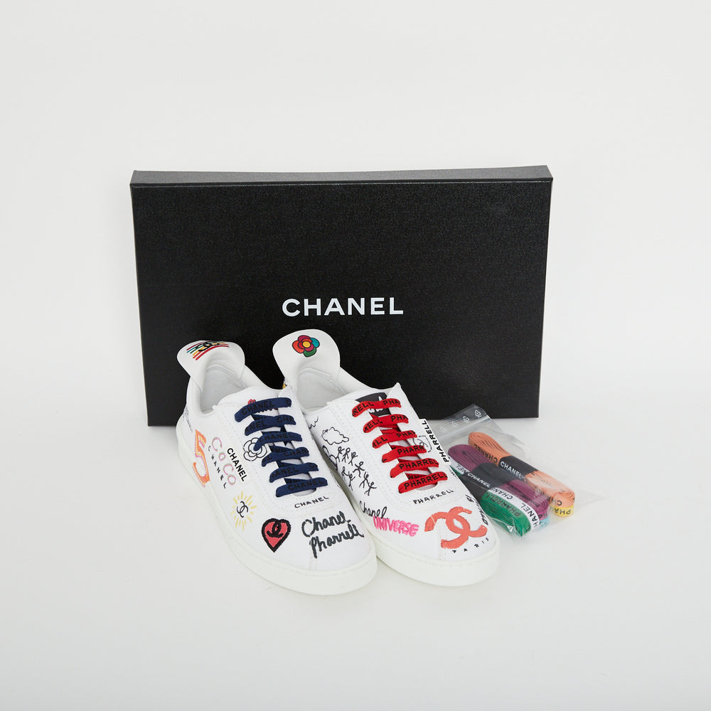Load image into Gallery viewer, CHANEL x Pharrell Williams Trainers Sz 38