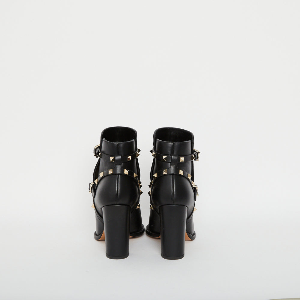Load image into Gallery viewer, VALENTINO Rockstud Leather Boots Sz 39