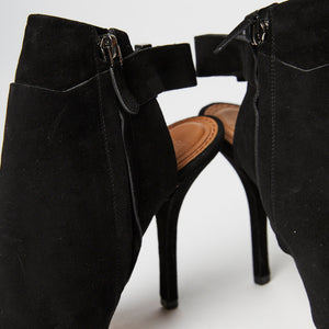 GIVENCHY Suede Peep Toe Heel with Ankle Strap 38