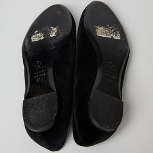 Load image into Gallery viewer, ALEXANDER MCQUEEN skull velvet loafer 37.5
