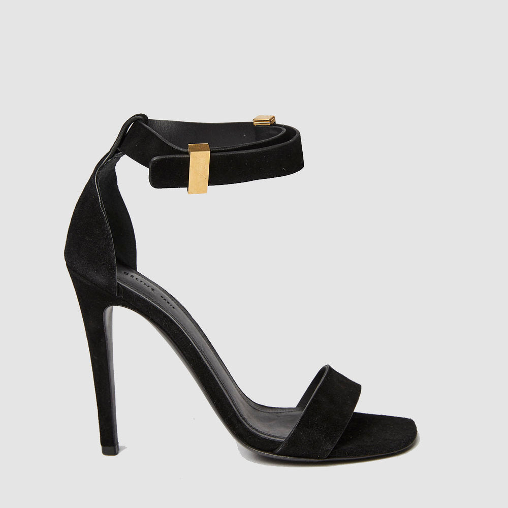 CELINE Iconic Ankle Strap Sandals Black 36.5