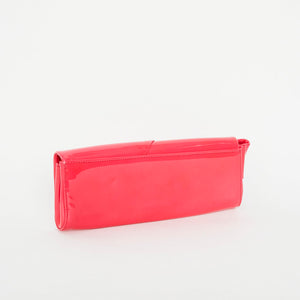 Load image into Gallery viewer, CHRISTIAN LOUBOUTIN Pink Patent Bow Clutch