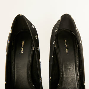 Load image into Gallery viewer, BALENCIAGA Logo Satin Pump Sz 38