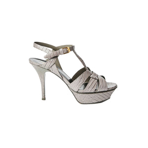 SAINT LAURENT tribute heel grey size37