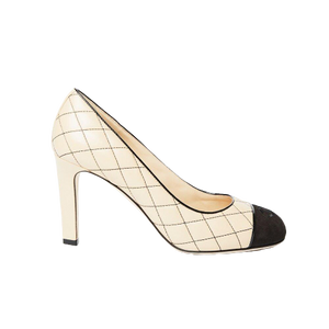 Chanel quilted round toe heel 38.5