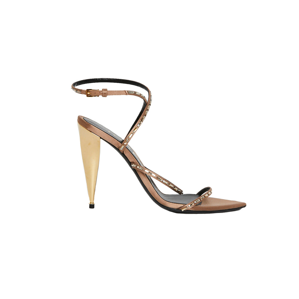 TOM FORD Embellished Strappy Heel Sz 39