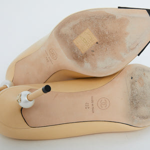 Load image into Gallery viewer, CHANEL Pearl Detail Pump Sz 41c