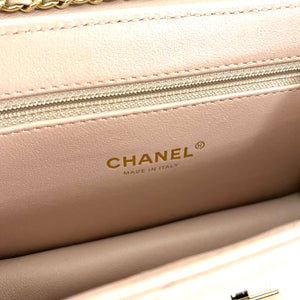CHANEL Quilted Beauty Lock Bag Dusty Pink