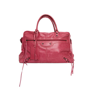 Load image into Gallery viewer, BALENCIAGA Pink Giant Studded Bag