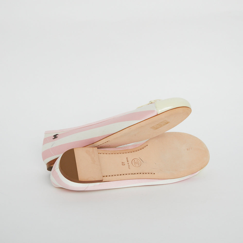 Load image into Gallery viewer, CHANEL Satin Ballet Flats Sz 40