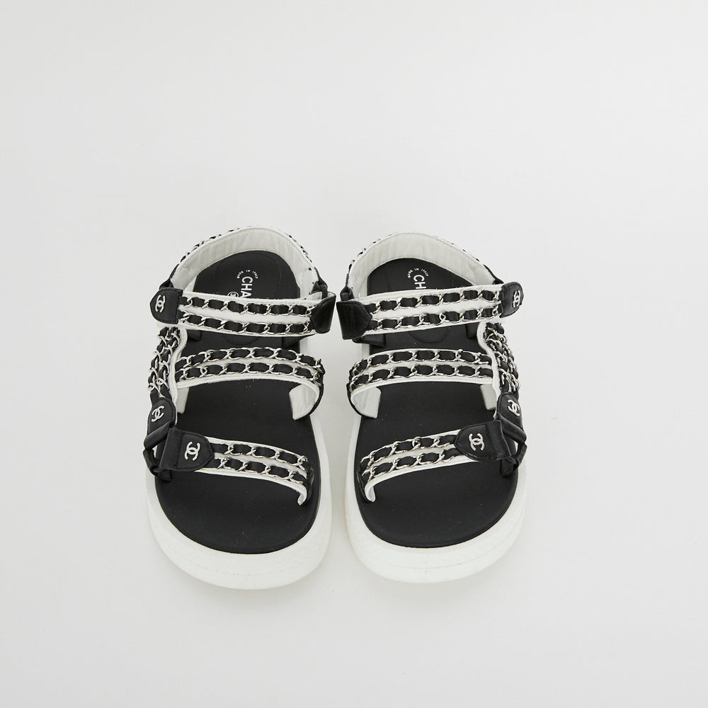 Load image into Gallery viewer, CHANEL Wedge Chain Sandal