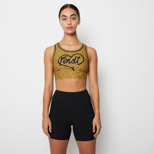 Load image into Gallery viewer, Fendi Heart and Logo Print Sports Bra Sz 40