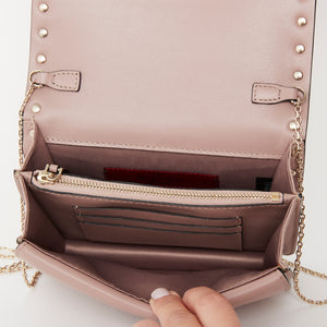 Valentino Nude Chain Pouch Bag Black/ Clutch