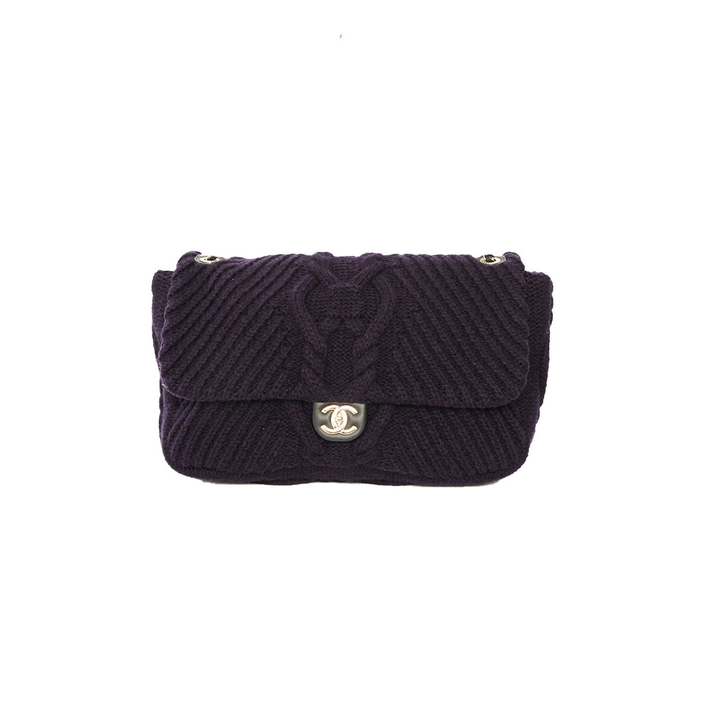 CHANEL Knitted Maxi Flap Bag