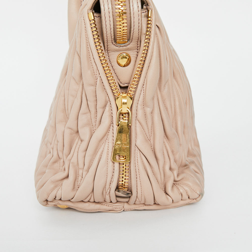 MIU MIU Matelasse Top Handle Bag