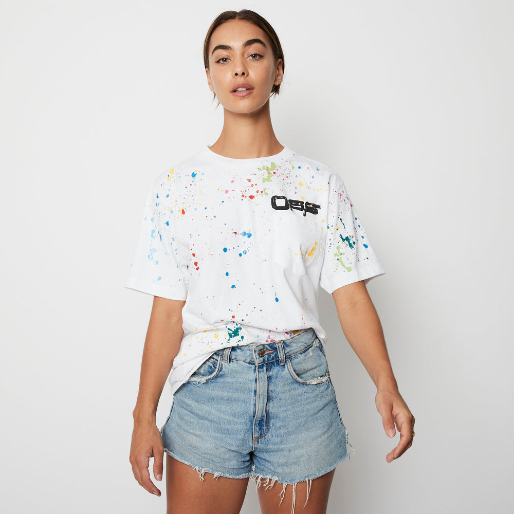 Off White Paint splatter T-Shirt S