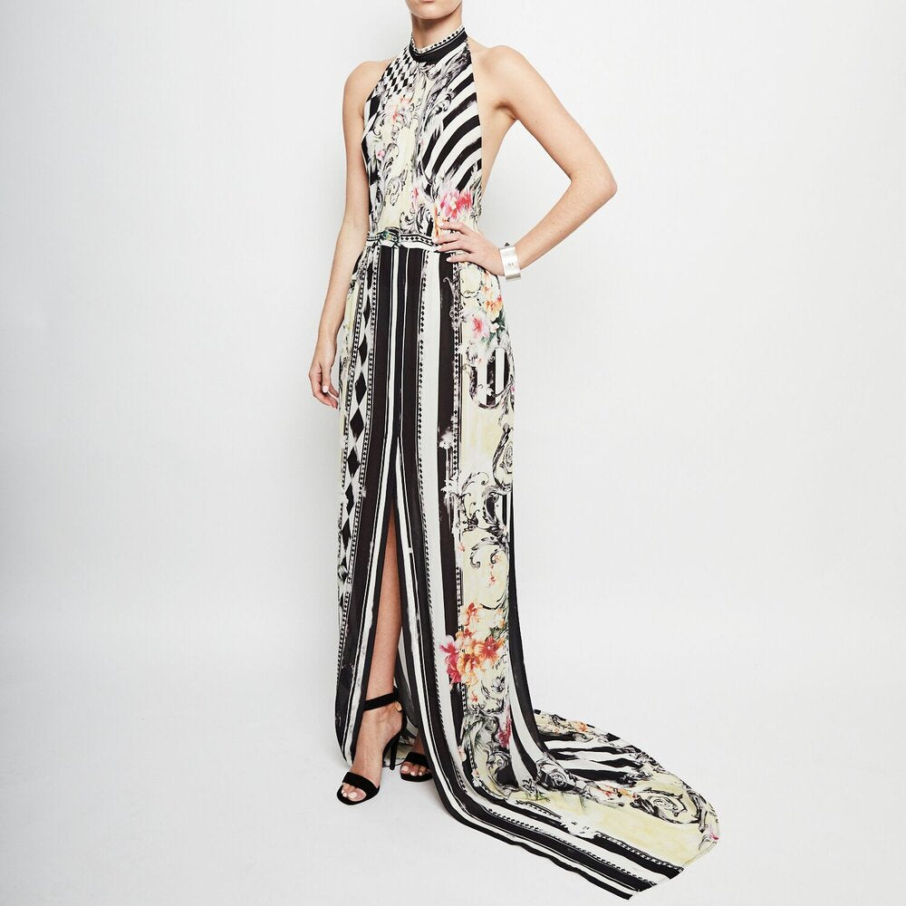 Load image into Gallery viewer, BALMAIN halter neck silk dress * LIMITED EDITION * SZ40