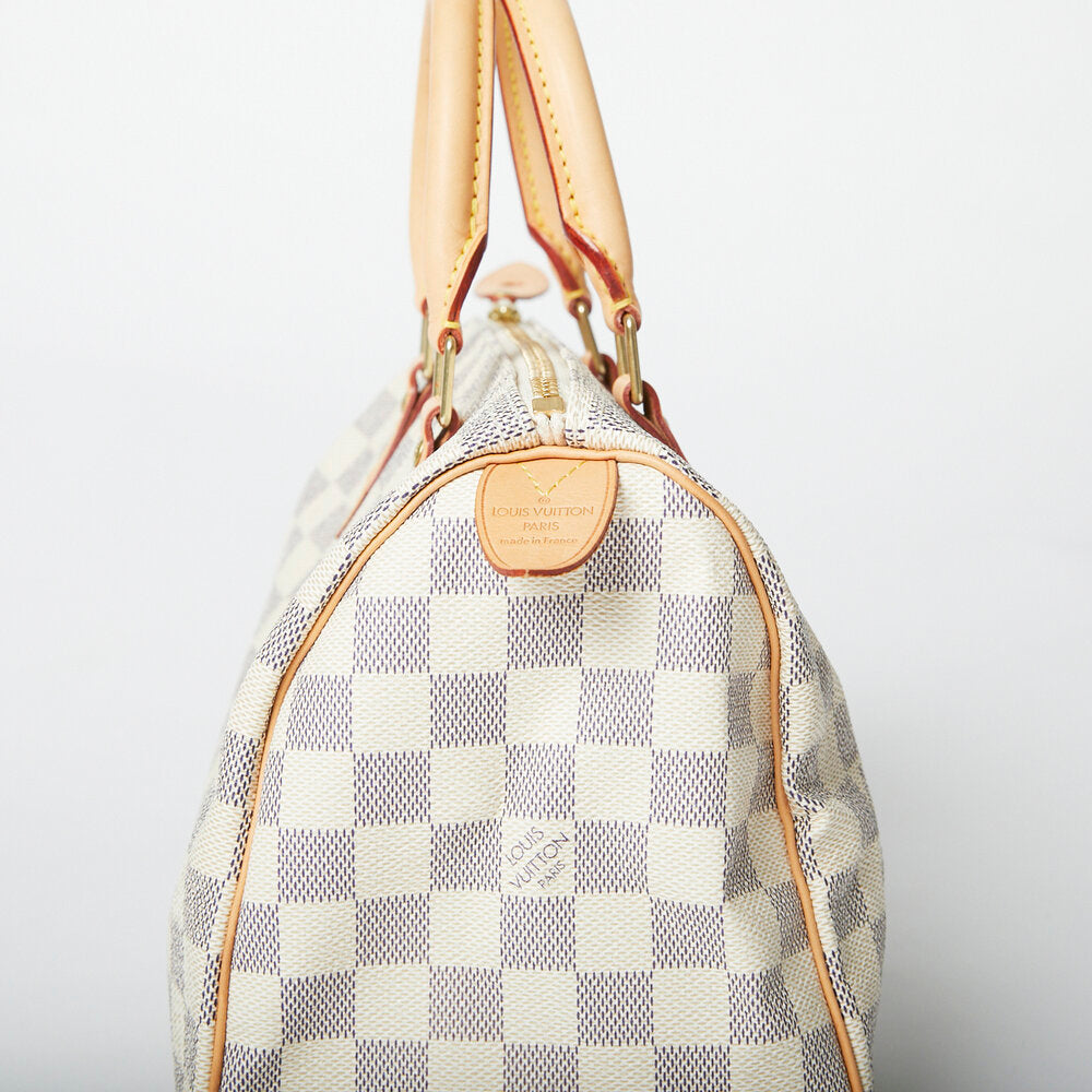 LOUIS VUITTON Speedy 25 Damier Azure