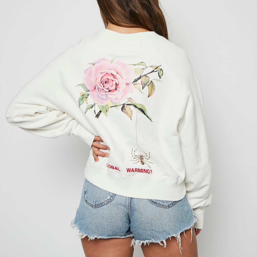 OFF White Global Warming Blossom Sweater Sz S