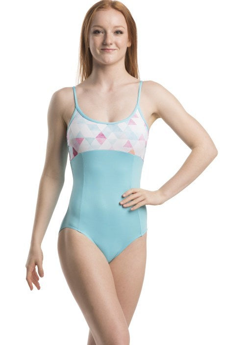 Load image into Gallery viewer, Ainsliewear Aqua & Triangles Leotard Child