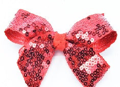 Load image into Gallery viewer, Mimy Design Sequined Bow w Aligator Clip