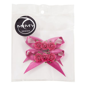 Mimy Design Hair Blossom Clips with Bow