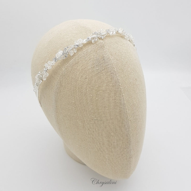 Load image into Gallery viewer, Chrysalini Crystal Headband Silver