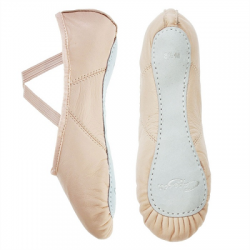 Capezio Juliet Leather Ballet Shoe - Child/ Light Pink