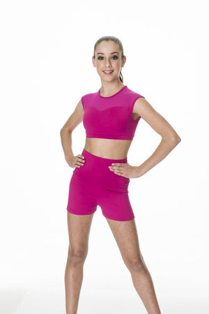 Studio 7 Dancewear Activate Mesh Crop Top Adult