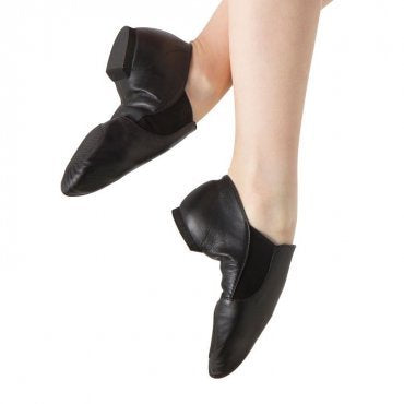 Bloch Elastaboot Jazz Shoe Child Large- Leather/ Slip On
