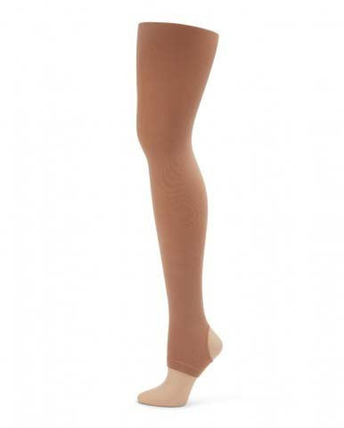 Capezio Ultra Soft Self Knit Waistband Stirrup Tights Child