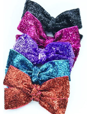 Load image into Gallery viewer, Mimy Design Glitter Bow w Aligator Clip