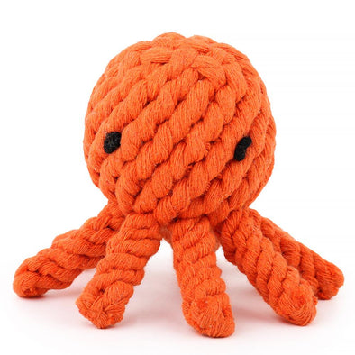 Rope Toy For Dogs - Octopus Orange