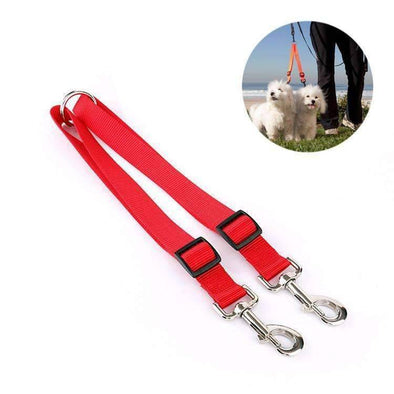 2 Dog Coupler - Adjustable Coupler for walking two dogs!