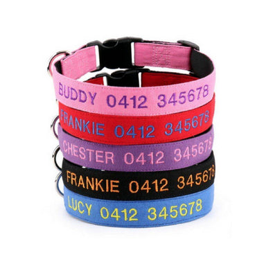 Soft Cotton Canvas - Personalised Dog Collar