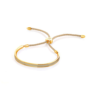 Fervor Montreal Bangle Mi Amore- Gold Plated Cafe Au Lait