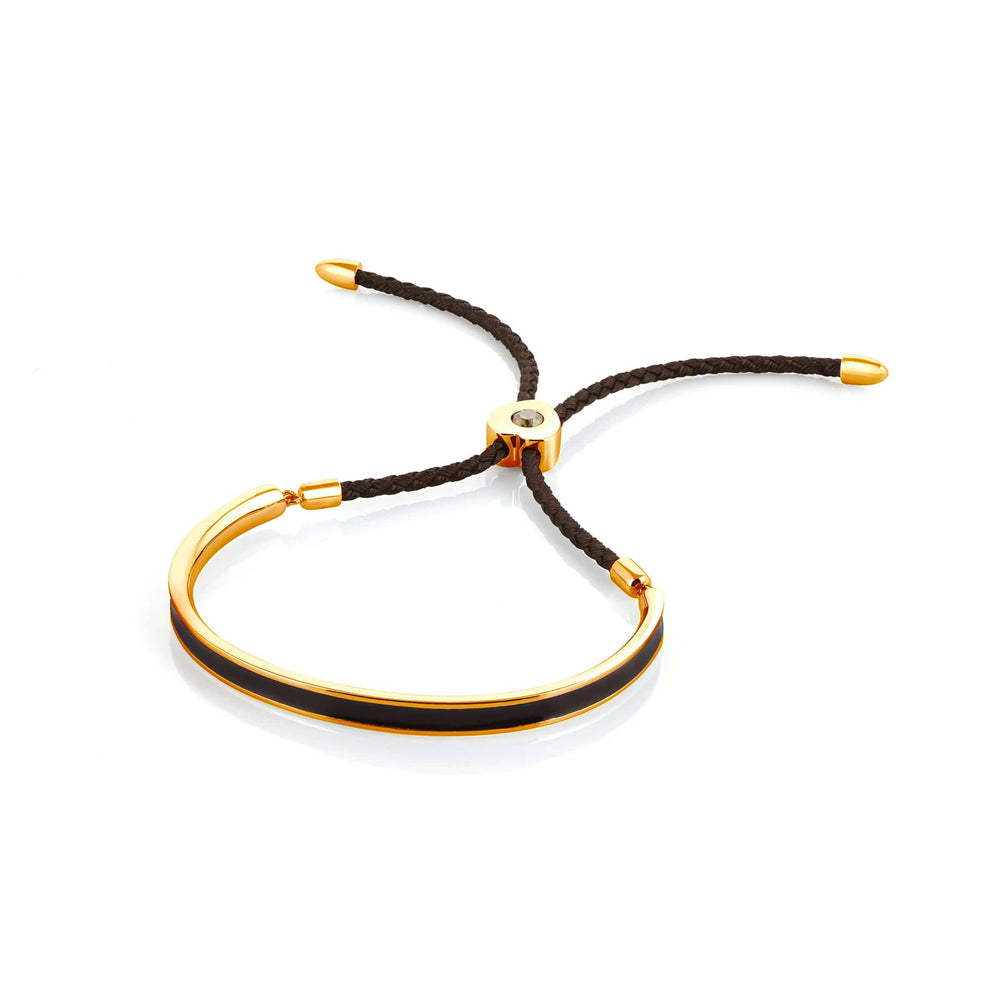 Fervor Montreal Bangle Mi Amore- Gold Plated Espresso