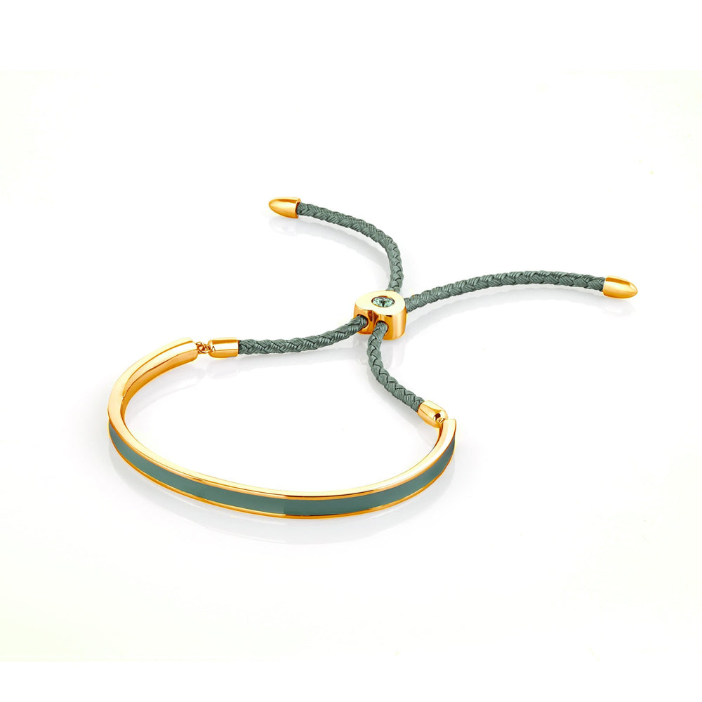 Fervor Montreal Bangle Mi Amore- Gold Plated Mint Green