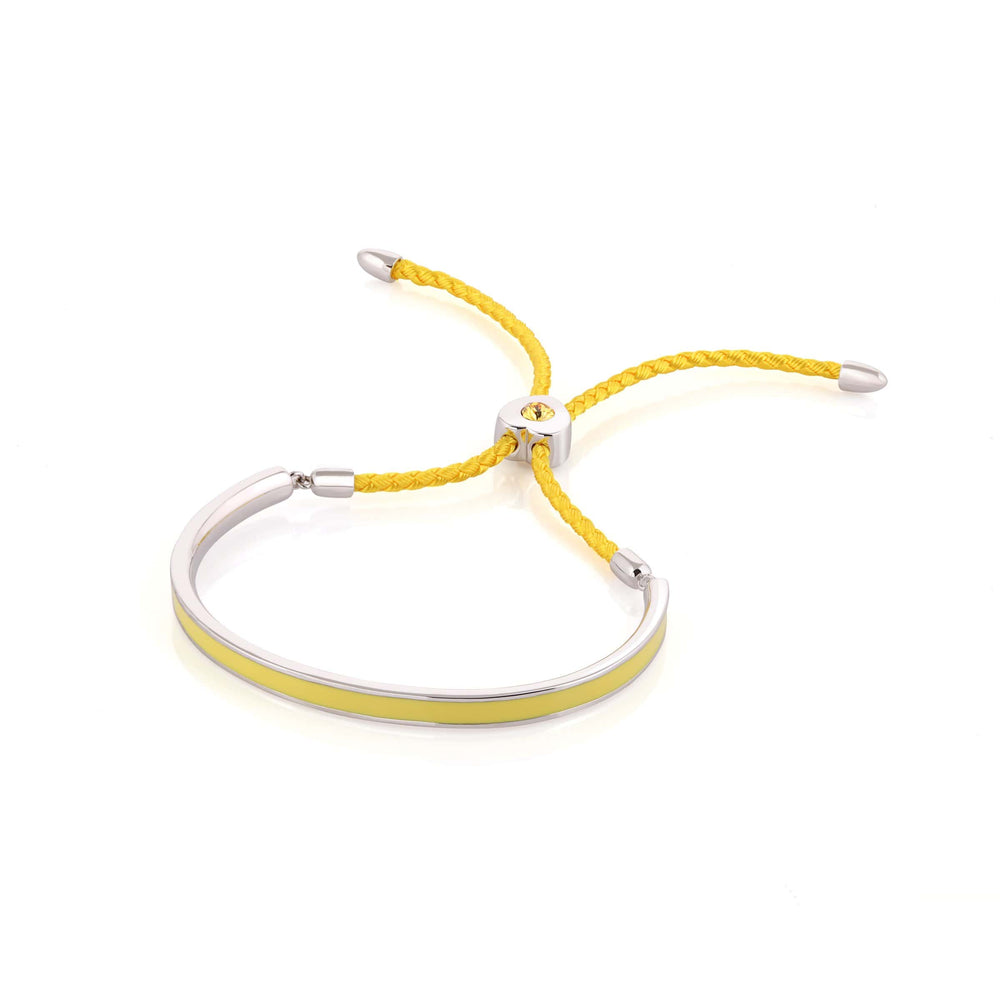 Load image into Gallery viewer, Fervor Montreal Bangle Mi Amore- Rhodium Plated Lemonade