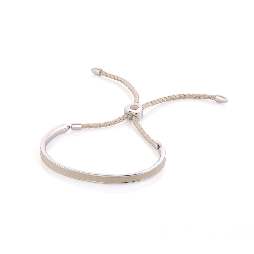 Load image into Gallery viewer, Fervor Montreal Bangle Mi Amore- Rhodium Plated Nude