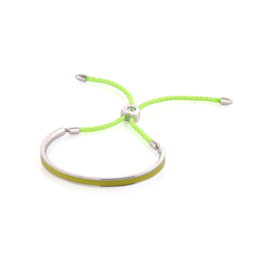 Load image into Gallery viewer, Fervor Montreal Bangle Mi Amore- Rhodium Plated Olive Green