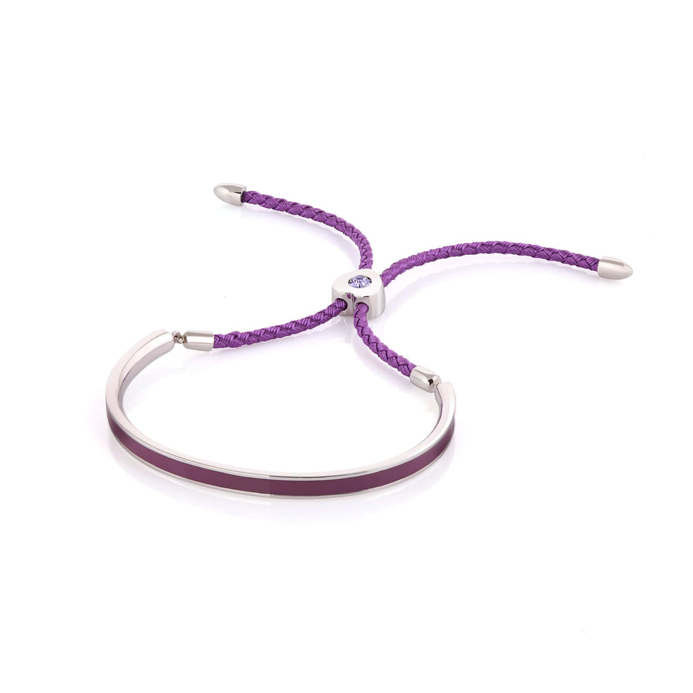 Fervor Montreal Bangle Mi Amore- Rhodium Plated Orchid