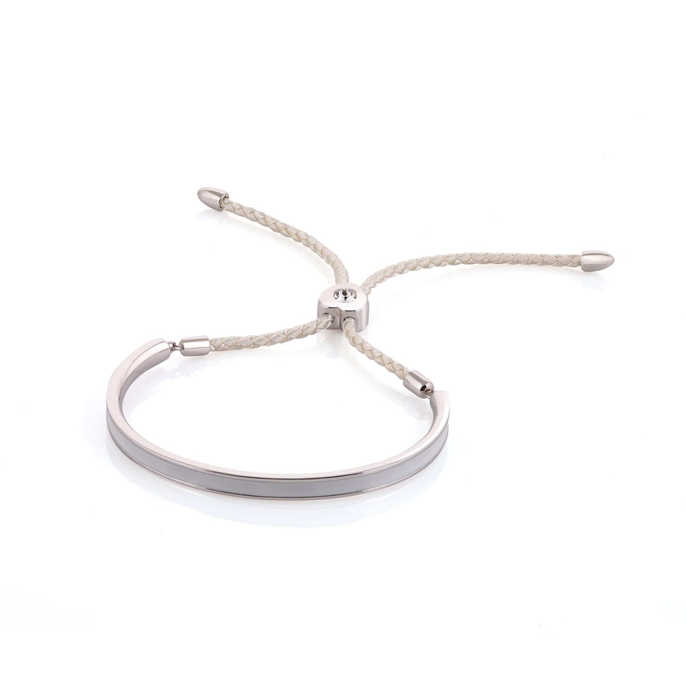 Fervor Montreal Bangle Mi Amore- Rhodium Plated Shades of Grey