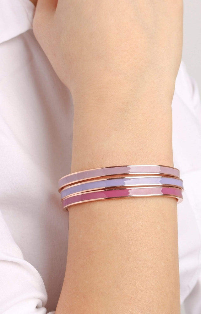 Load image into Gallery viewer, Fervor Montreal Bangle Mi Amore- Rose Gold Plated Cashmere