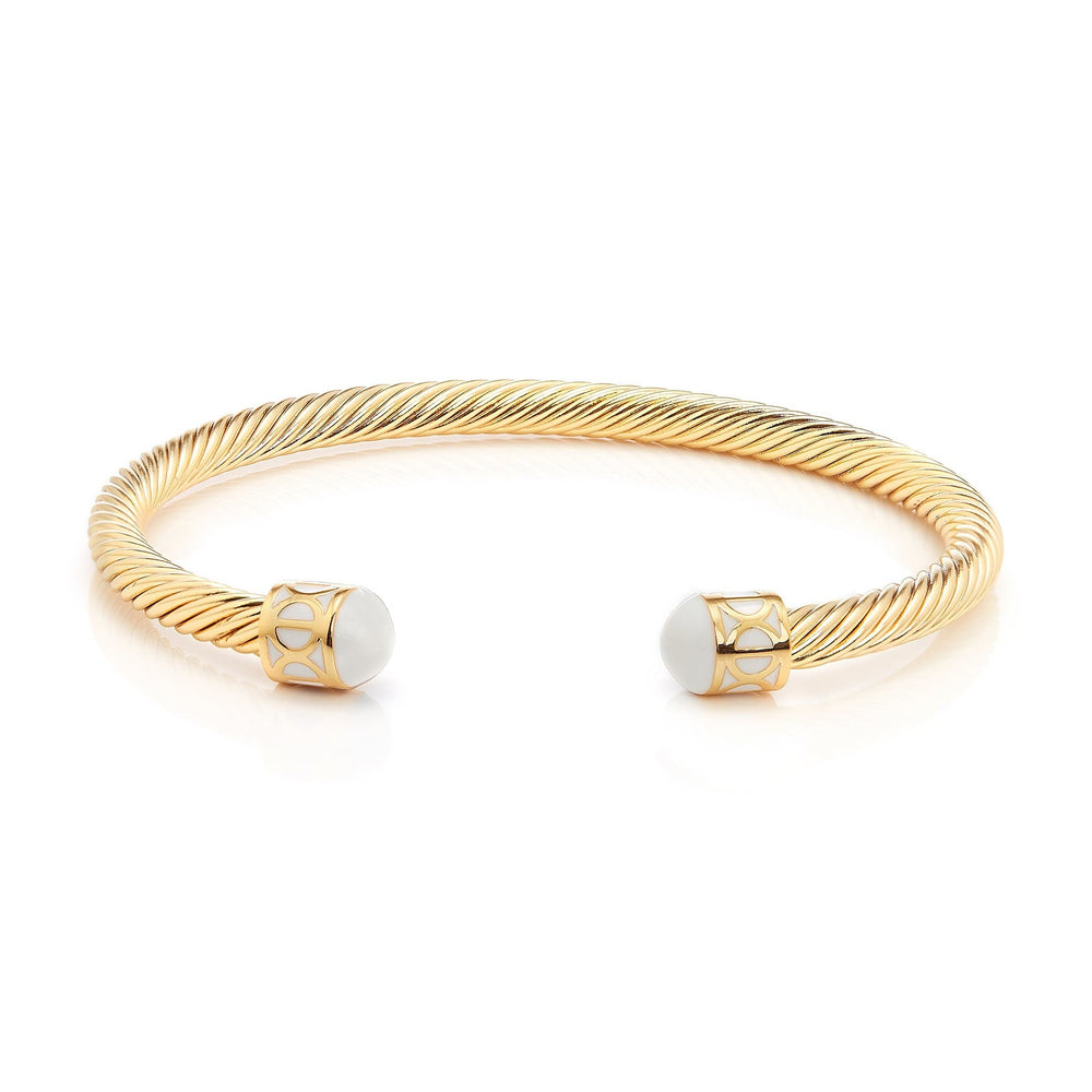 Load image into Gallery viewer, Fervor Montreal Bangle Mondial Bangles- Gold Plated Zanzibar